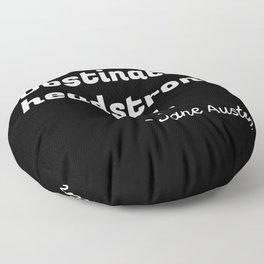 Pride and Prejudice Quote II Floor Pillow