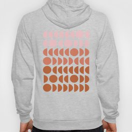 Terracotta and Blush Shapes Hoody