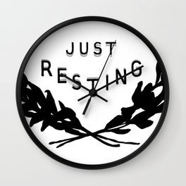 Just Resting Wall Clock