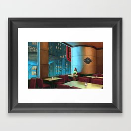 Night Coffee Framed Art Print
