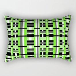 Plaid in Lime Green, Black & Gray Rectangular Pillow