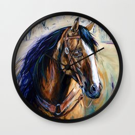 In The Eyes - Cutting Horse Wall Clock