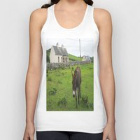irish Tank Tops featuring Irish Cottage by Kim Ramage