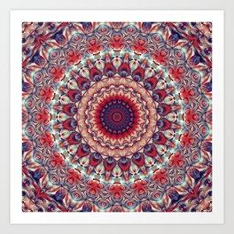 Flower Of Life Mandala (Sangria) Art Print