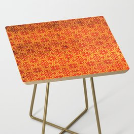 N67 - Yellow & Red Vintage Antique Geometric Traditional Moroccan Style. Side Table