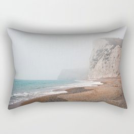 Dreary Beach Rectangular Pillow