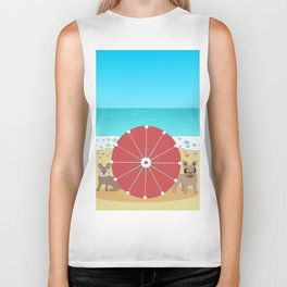 Holiday Romance - Behind the Red Umbrella Biker Tank