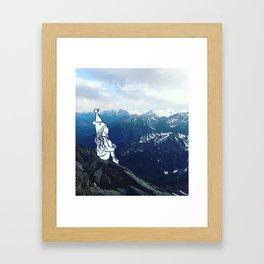 mountain girl Framed Art Print