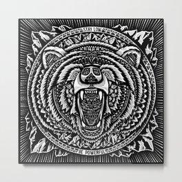 Mountain Bear Metal Print