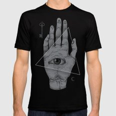 Witch Hand Black Mens Fitted Tee MEDIUM