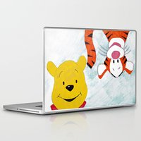 winnie the pooh Laptop & iPad Skins featuring winnie the pooh and tigger by Art_By_Sarah
