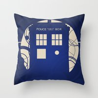 doctor who Throw Pillows featuring Doctor Who by LukeMorgan