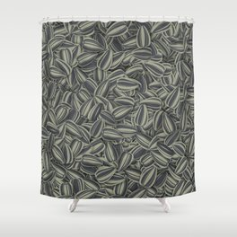 Pipas Mania (Spanish for sunflower seeds) Shower Curtain