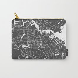 Amsterdam Gray on White Street Map Carry-All Pouch