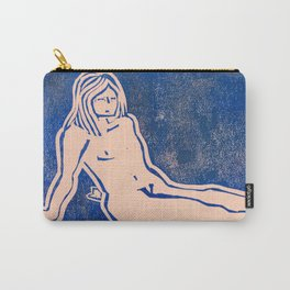 Bathing Girl in Blue/Pink Carry-All Pouch