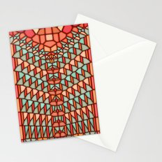 Water snake voronoi Stationery Cards