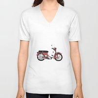 motorbike V-neck T-shirts featuring Motorbike by Ryan Ly