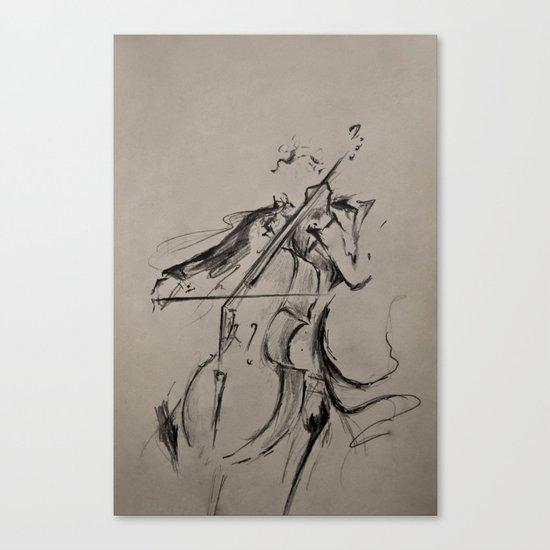 The Cellist (Sketch) Canvas Print