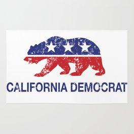 California Political Democrat Bear Distressed Rug