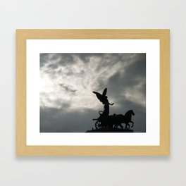 Roman angel and chariot at sunset 2 Framed Art Print