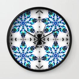 Enchanted Frozen Snowflakes Wall Clock