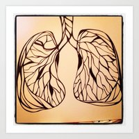 lungs Art Prints featuring lungs by Fresh