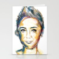 miley Stationery Cards featuring Miley Cyrus by caffeboy