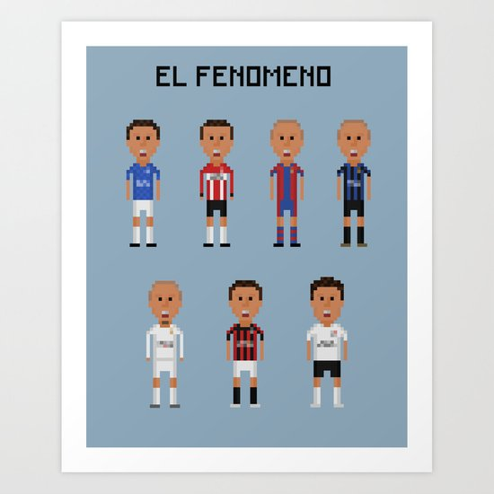 """Ronaldo """"El Fenomeno"""" Art Print"""