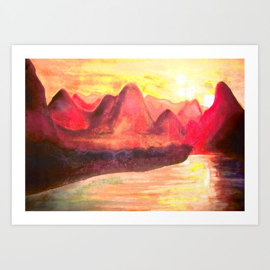 dusty mountains Art Print