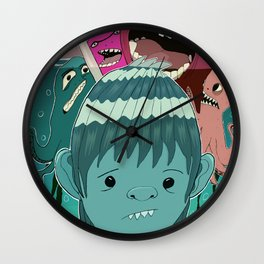 """Aquaboy"" by Kieran David Wall Clock"