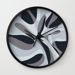 Inverted Wave Wall Clock