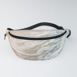 Soft Emerald Beige Ocean Dream Waves #1 #water #decor #art #society6 Fanny Pack