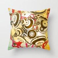 dragon ball Throw Pillows featuring ball by echo3005