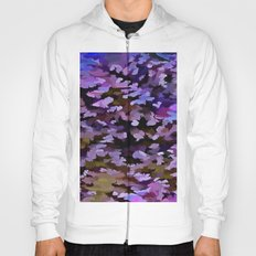 Foliage Abstract In Blue, Pink and Sienna Hoody