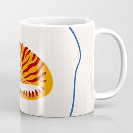 A Tiger and Blue Star Coffee Mug