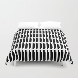 shadow stamp. black and white pattern Duvet Cover