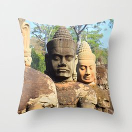 Beauty of Cambodia Throw Pillow