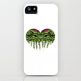 Stripes heart one iPhone Case