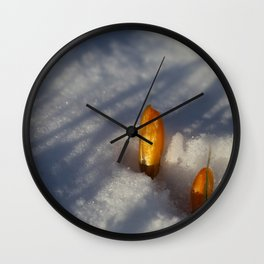 First flowers Wall Clock
