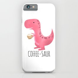 Coffee-saur | Pink iPhone Case