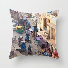 India New Delhi Paharganj 5536 Throw Pillow