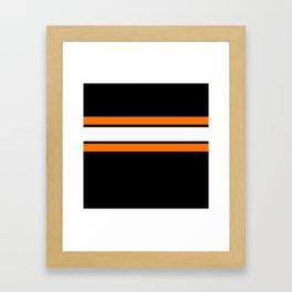 Team Colors...Orange , white stripes with black Framed Art Print