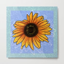Censored Sunflower Metal Print