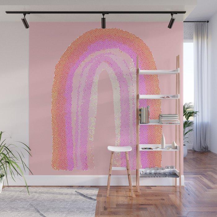 Rainbow rose orange Wall Mural