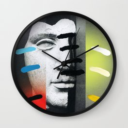 Composition on Panel 18 Wall Clock
