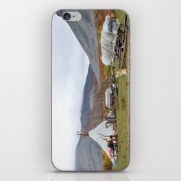 Camp of reindeer herders in national park Yugyd Va in Russia. iPhone Skin