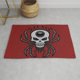 Skull Spider Rug