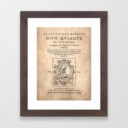 Cervantes. Don Quijote, 1605. Framed Art Print