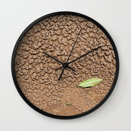 Dry sand texture Wall Clock