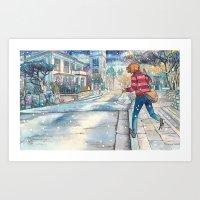 Cold In Yokohama #07 Art Print